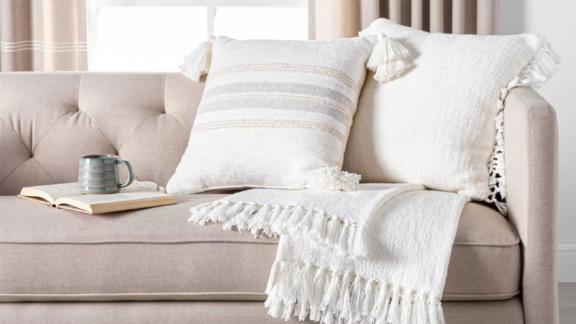 Hearth & Hand with Magnolia Center Slub Stripe Throw Pillow