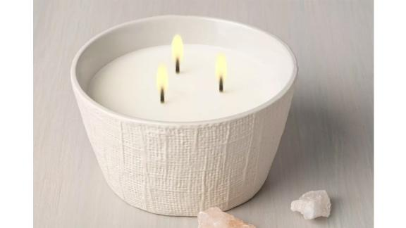Hearth & Hand with Magnolia 23oz Salt 3-Wick Large Textured Ceramic Candle