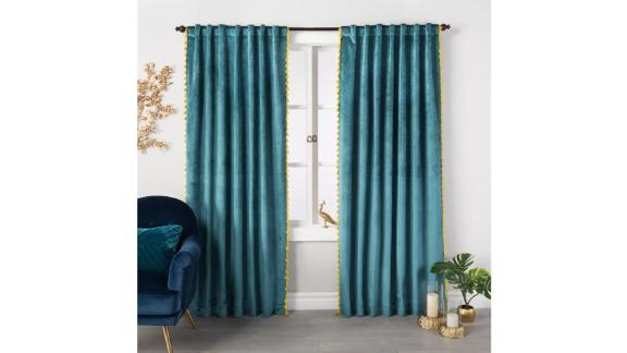 Opalhouse Velvet Curtain Panel With Tassels