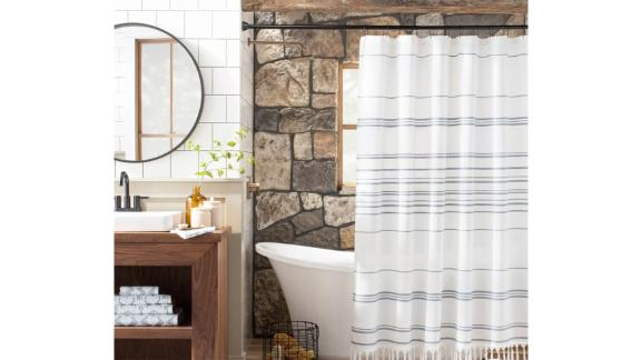 Hearth & Hand with Magnolia Stitch Stripe Shower Curtain