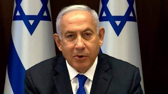 A screen shot of Israeli Prime Minister Benjamin Netanyahu.