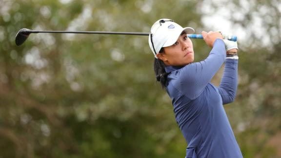 HOUSTON, TEXAS - DECEMBER 11: Danielle Kang of the United States plays her shot from the 12th tee during the second round of the 75th U.S. Women's Open Championship at Champions Golf Club Jackrabbit Course on December 11, 2020 in Houston, Texas. (Photo by Carmen Mandato/Getty Images)