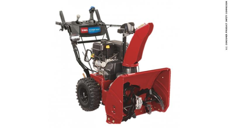 Toro issues nationwide recall for a snow blower that carries the risk of amputation