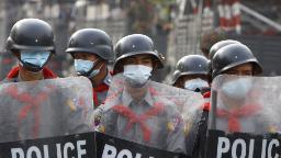 Pro-democracy protesters in Myanmar met with violence