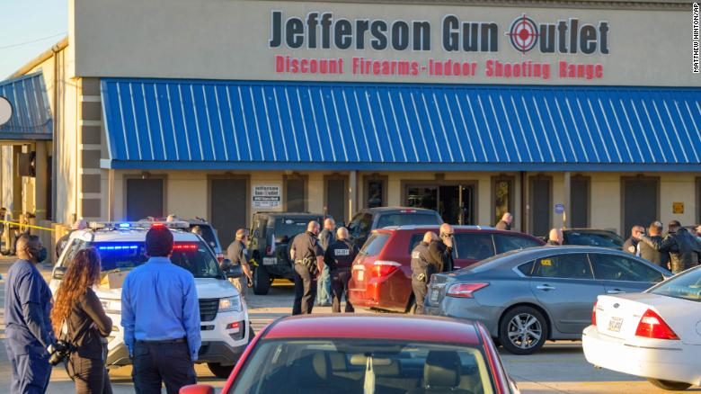 Three people killed, two injured, in shooting at gun store in Louisiana