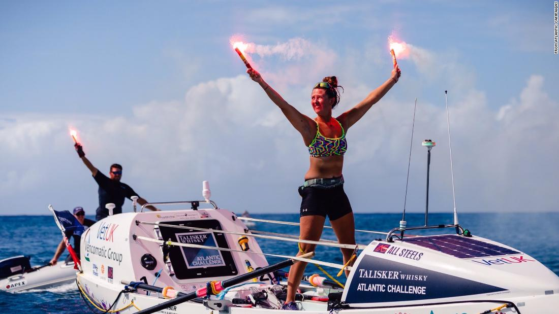 She's 21 and just became the youngest female to row solo across the Atlantic Ocean