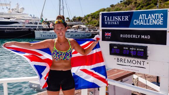 21-year-old Jasmine Harrison of @rudderlymad has completed the @TaliskerWhisky Atlantic Challenge in 70 days, 3 hours, 48 minutes, breaking the WORLD RECORD for the youngest female to row solo across any ocean!