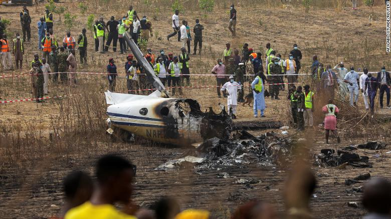 Seven dead in Nigerian military plane crash, says air force