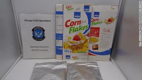On February 13, US Customs and Border Protection (CBP) officers in Cincinnati intercepted smuggled narcotics in a shipment of cereal originating from South America.