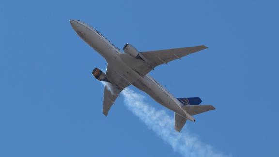 Hayden A. Smith, 17, is a plane spotter and photographer and took this photo of UAL Flight 328 on Saturday, February 20, as it flew overhead in Aurora, Colorado.