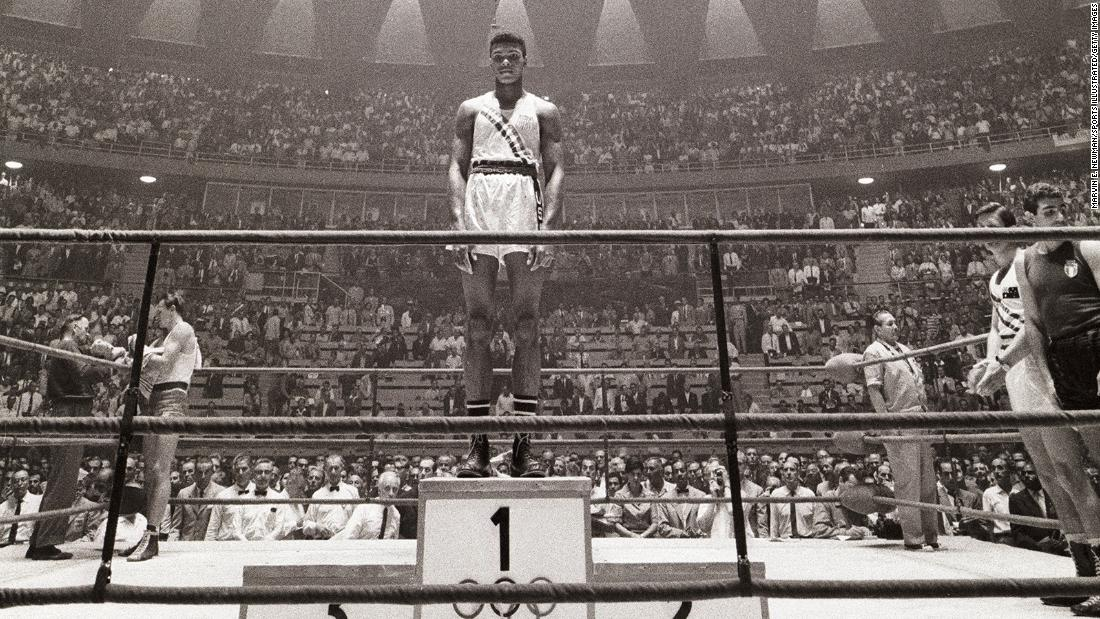 September 5, 1960 -- As an 18-year old from Kentucky, Cassius Clay won a gold medal boxing in the light heavyweight division at the Rome Olympics.