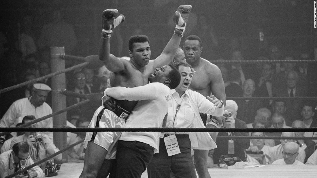 May 25, 1965 -- In the much-anticipated rematch, Ali knocked out Liston with a chopping right hand in the first round.