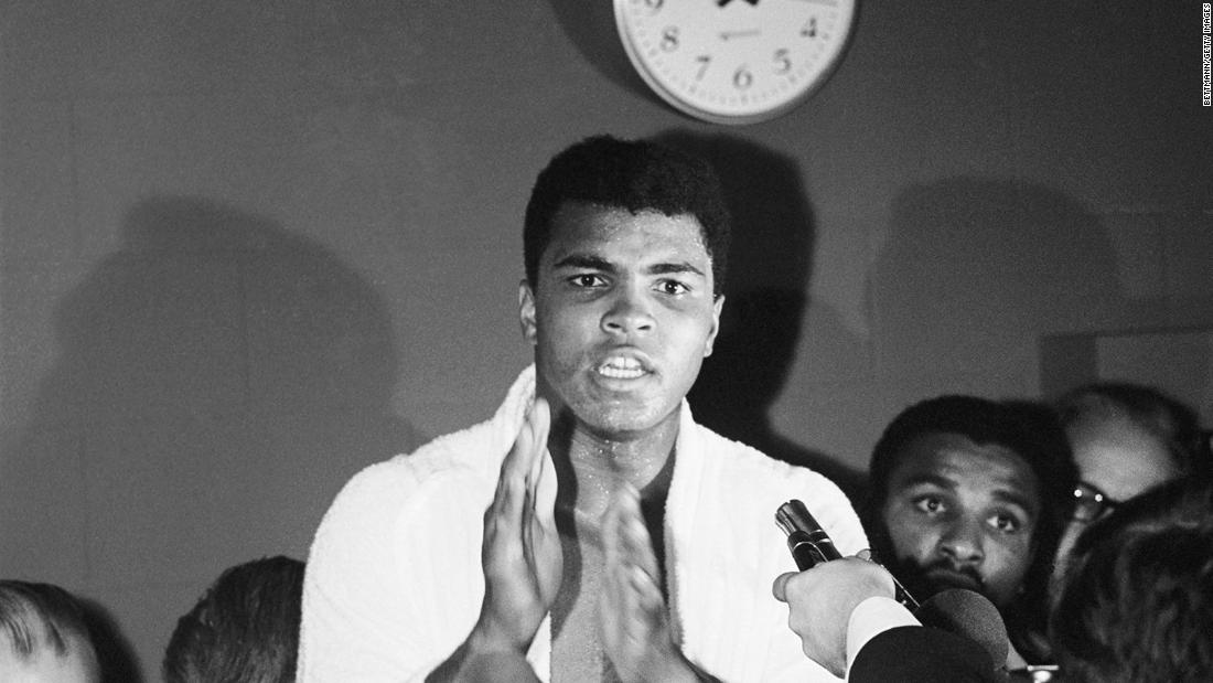 "November 14, 1966 -- During a knockout win over Cleveland Williams, often regarded as his best performance, Ali reveals the ""Ali shuffle"" -- labeling it the best dance move since ""The Twist."""