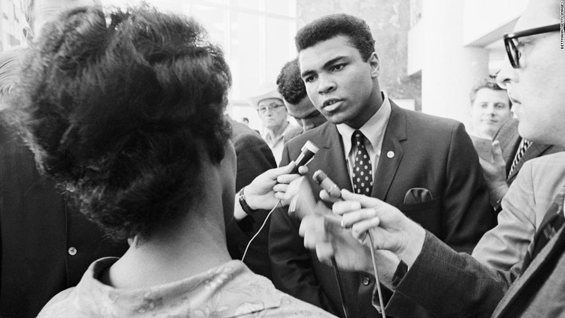 April 28, 1967 -- Following his refusal to accept induction into the U.S. Armed Forces in Houston, Ali was arrested, while later that day boxing commissions began to suspend his licenses, banning him from the sport.