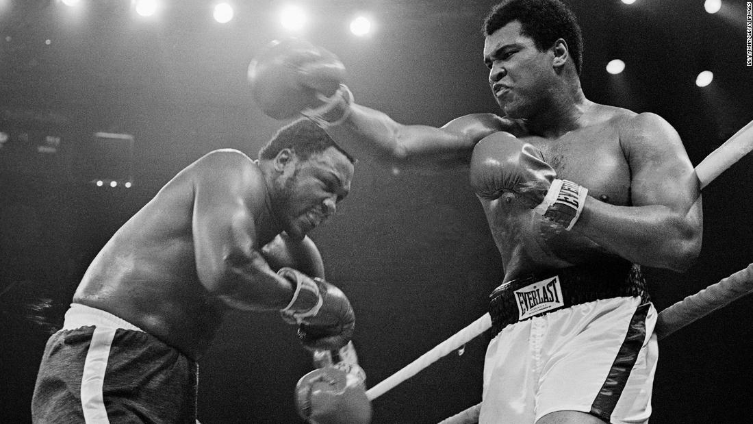 "October 1, 1975 -- ""The Thrilla in Manilla:"" After winning his final trilogy fight with Frazier due to his opponent's corner retiring him after the 14th round, Ali said it was the closest thing to dying that he had ever known."