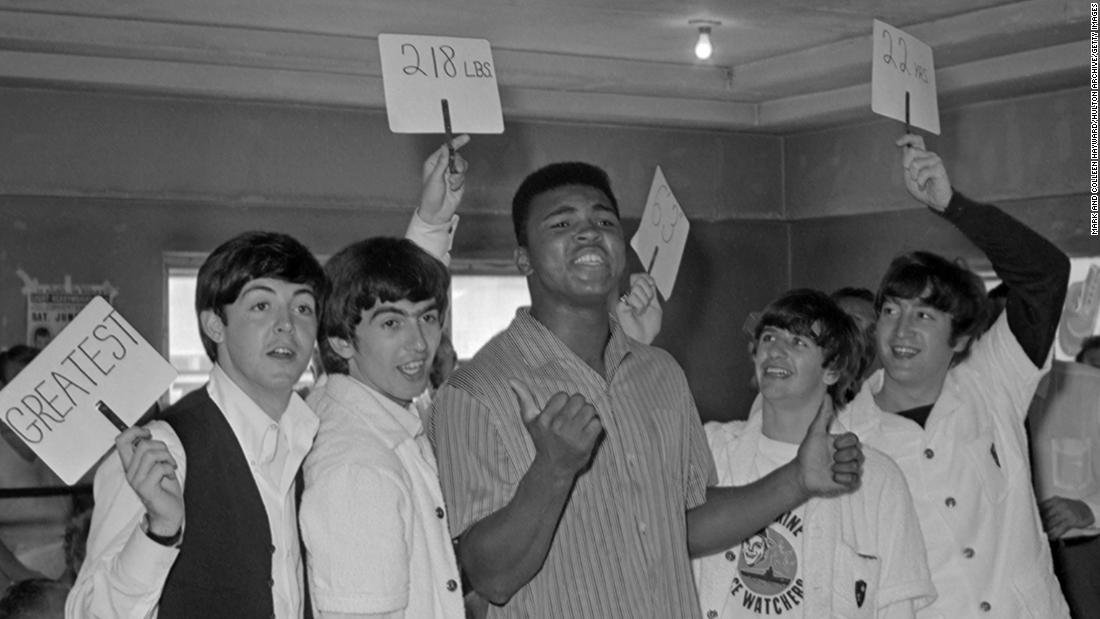 February 18, 1964 -- Before they all reached worldwide fame, and a week before his shot at the world heavyweight title, Clay met The Beatles at Miami Beach's 5th Street Gym.