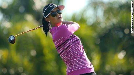 Michelle Wie plays during the Els for Autism Pro-am at The PGA National Golf Club on March 10, 2014 in Palm Beach, Florida.