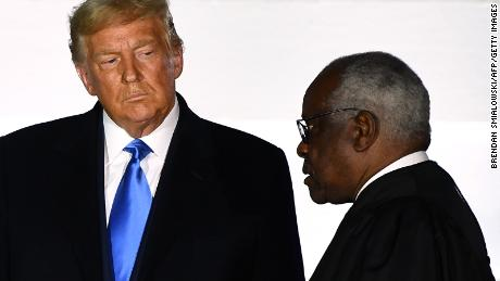 Justice Clarence Thomas revealed his sympathy for Trump's unfounded fraud claims.