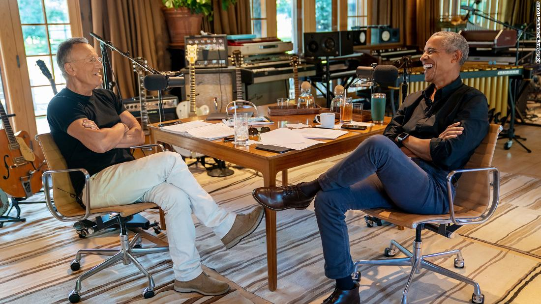 Barack Obama and Bruce Springsteen team up to host Spotify podcast