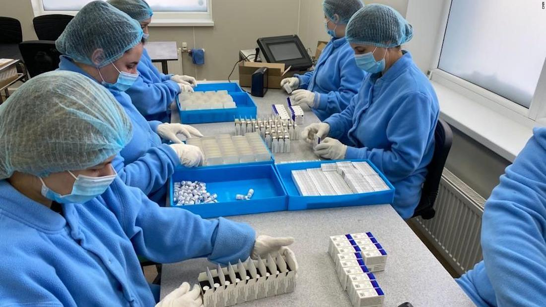 Russia shows off new Covid-19 vaccine factory even as its people hesitate to get the shot - CNN