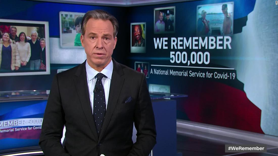 'Try to honor the loss:' Why CNN aired a national memorial service for 500,000 lives lost from Covid-19