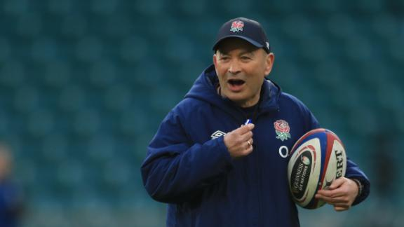 England's coach Eddie Jones attends an England team training session at The Lensbury in Teddington, south west London on February 20, 2021, ahead of the Six Nations rugby union match between England and  Wales on February 27. (Photo by Adam Davy / POOL / AFP) (Photo by ADAM DAVY/POOL/AFP via Getty Images)