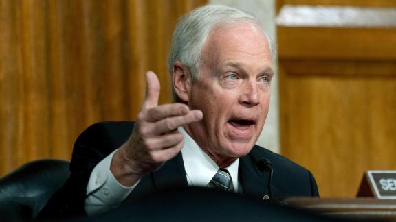 Sen. Ron Johnson (R-WI) speaks during a Senate Homeland Security and Governmental Affairs & Senate Rules and Administration joint hearing on February 23, 2021 in Washington, DC. The committee is hearing testimony about the law enforcement preparation for and response to the attack on the U.S. Capitol on January 6, 2021.