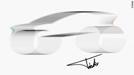 Fisker and Foxconn released this sketch of their proposed electric vehicle.