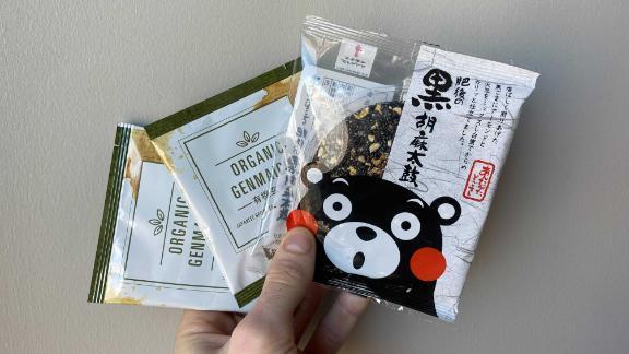 Black Sesame Taiko and Organic Genmaicha Tea