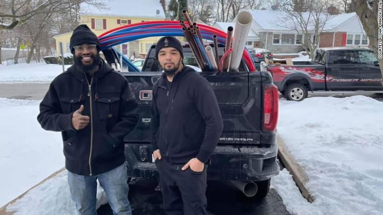 A New Jersey plumber drove to Texas with his family to fix burst pipes and other damage from devastating winter storm
