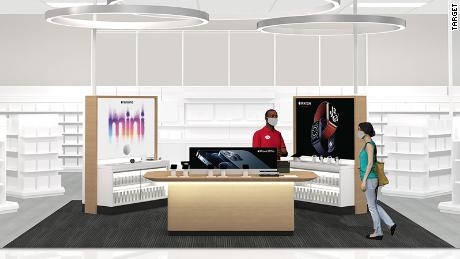 A concept rendering of the new Apple destination rolling out in select Target locations.
