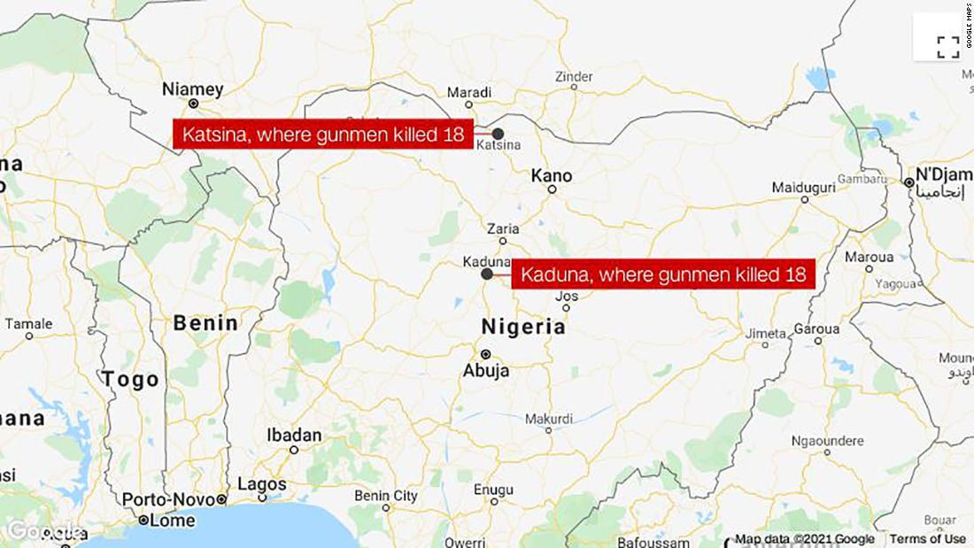Gunmen kill 36 in attacks on two northern Nigerian states