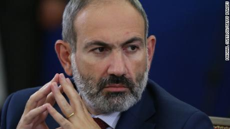 Armenian Prime Minister Nikol Pashinyan attends the Supreme Eurasian Econonic Council Meeting in the State Residence in Yerevan, Armenia on October,1, 2019.