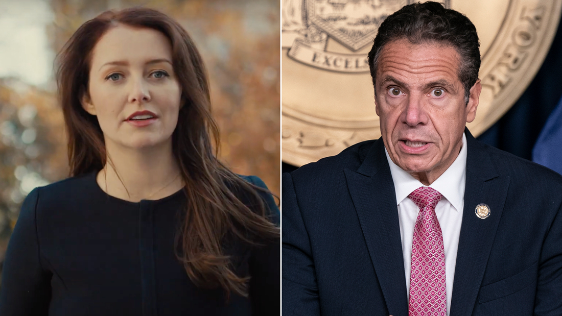 Lindsey Boylan, on left, is a former aide of New York Gov. Andrew Cuomo, on right.