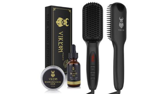 Vikcon Beard Straightener with Beard Oil and Beard Balm for Men