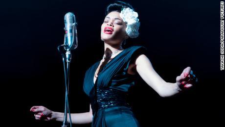 Andra Day (center) in 'The United States vs. Billie Holiday' (Takashi Seida).