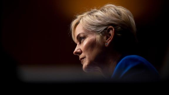 Former Michigan Governor Jennifer Granholm testifies before the Senate Energy and Natural Resources Committee during a hearing to examine her nomination to be Secretary of Energy, on Capitol Hill, January 27, 2021 in Washington, DC.
