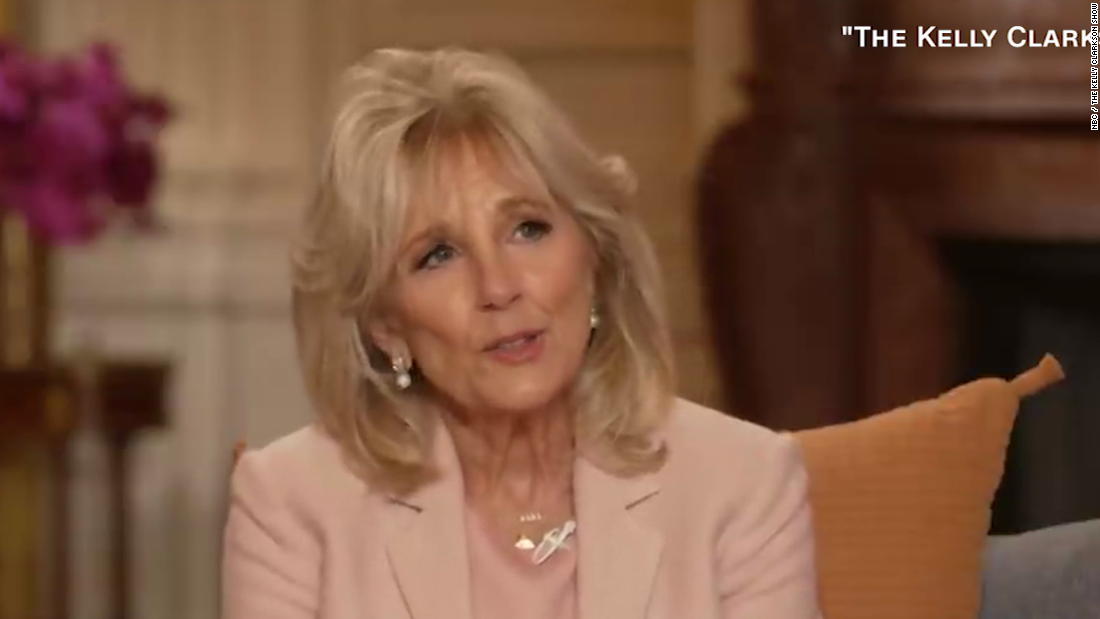 Jill Biden shared candid relationship advice in first solo interview since becoming first lady