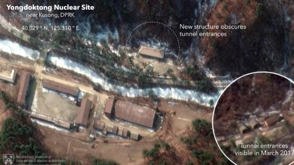 New satellite images taken by Maxar show that North Korea sometime in the past year built a structure that may be intended to obscure entrances to an underground facility where nuclear weapons or nuclear weapons components are stored.