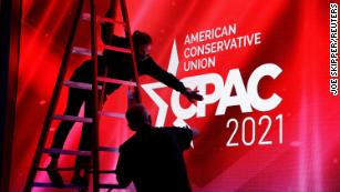 Fact checking CPAC: speakers make false claims about the election, the Capitol attack, immigration, Covid, and The Muppets