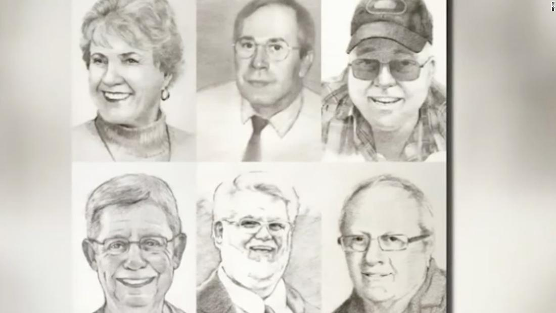 Library displays portraits to honor lives lost to Covid-19