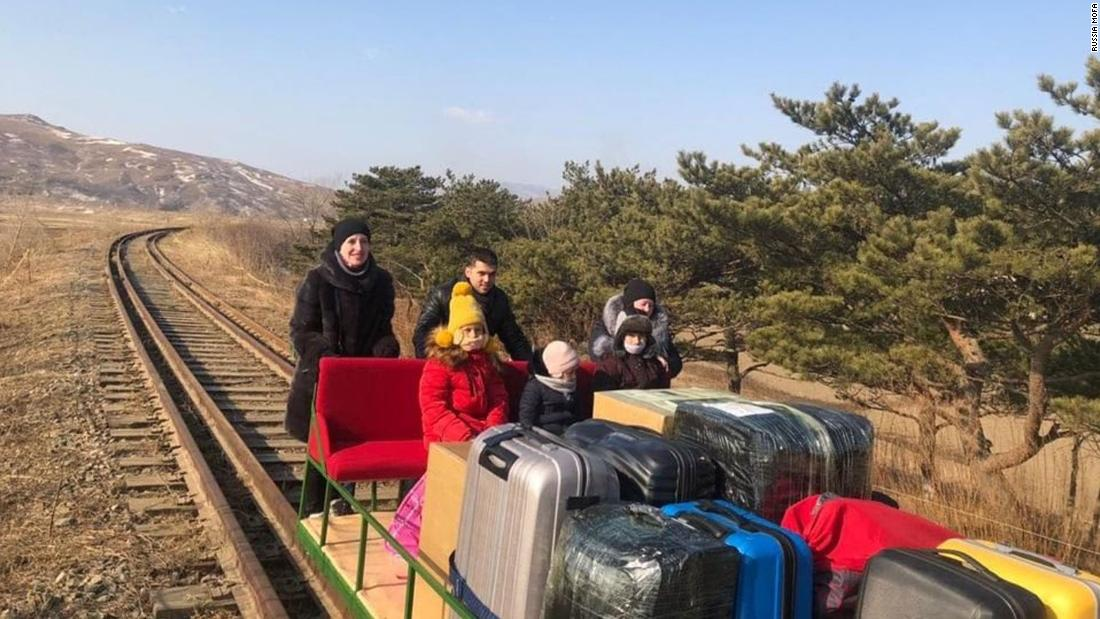 Diplomats and their families leave North Korea by rail trolley