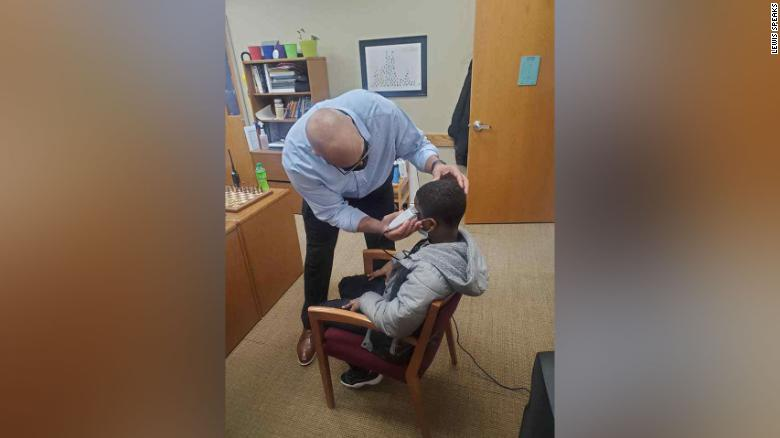 A middle schooler was insecure about his haircut. So his principal fixed it himself instead of disciplining the boy for wearing a hat