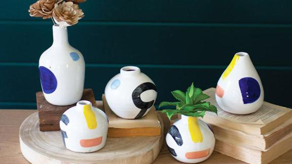 Jungalow Hand Painted Vase Set