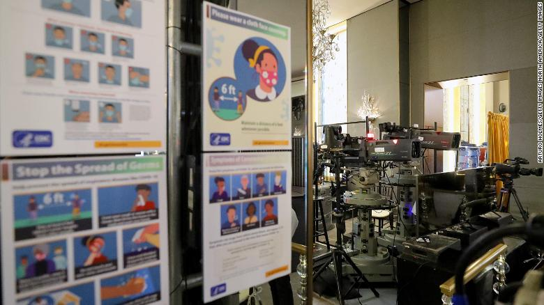 Tampilan interior selama Pratinjau Media Golden Globes Tahunan ke-78 di The Rainbow Room pada 26 Februari 2021 di New York, New York.