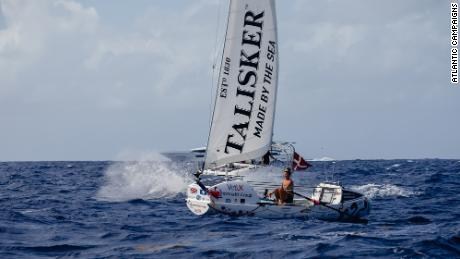 Harrison rowed 3,000 miles across the Atlantic in 70 days, three hours and 48 minutes.