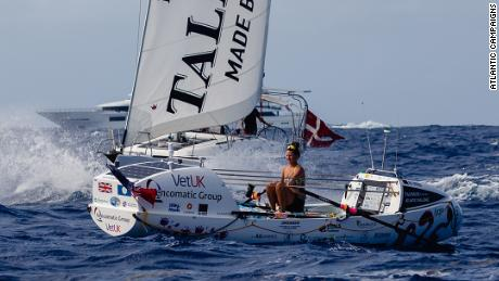 FREE USE: FEBRUARY 20 2021: Today Jasmine Harrison, a 21-year-old from North Yorkshire, set a new world record for the youngest female solo rower to row any ocean after completing the Talisker Whisky Atlantic Challenge. Jasmine from team Rudderly Mad crossed the 3,000 mile Atlantic in 70 days, 3 hours and 48 minutes and raised over £11K for Shelterbox & Blue Marine Foundation.