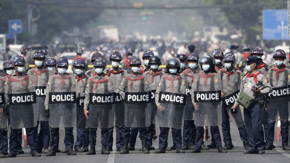 Myanmar police shoot dead one protester, as they open fire on demonstrations