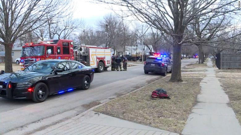 3 officers were hurt in an explosion in Wichita while searching a vacant home, officials say