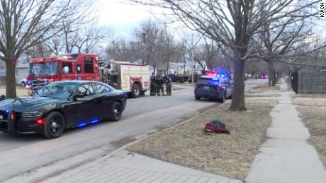 Police in Wichita, Kansas, are investigating a possible explosion that left three officers injured Saturday.